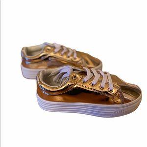 NEW Rose Gold Shiny Fashionable Gym Shoes